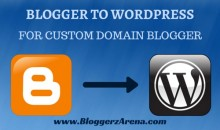 How To Transfer Custom Domain Blogger Blog To WordPress