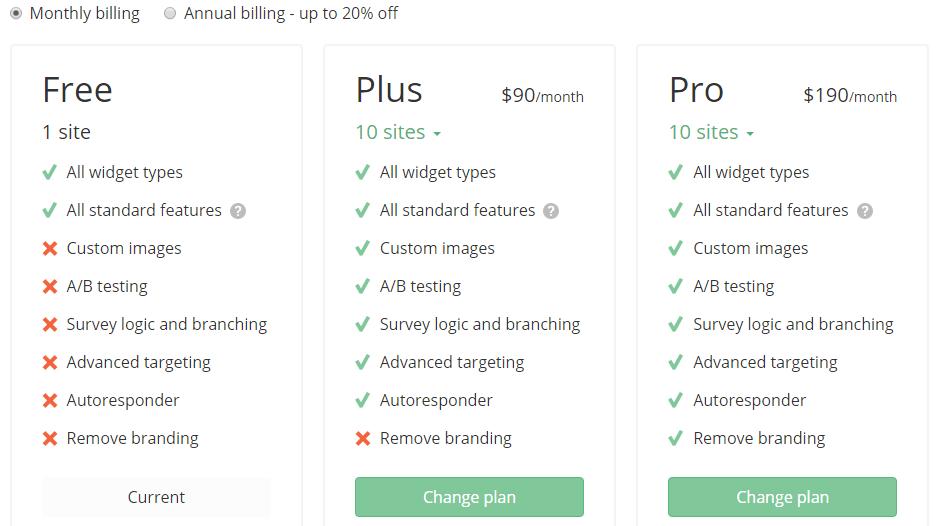 GetSiteControl-Pricing