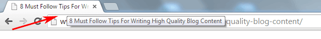 On Page Seo Page Title Tabs