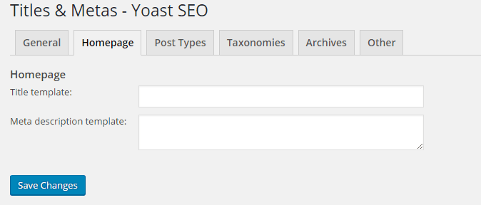 Seo By Yoast-Title and Metas-Home Page