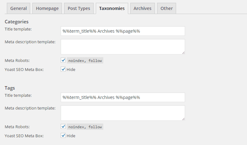 Seo By Yoast-Title and Metas-Taxonomies