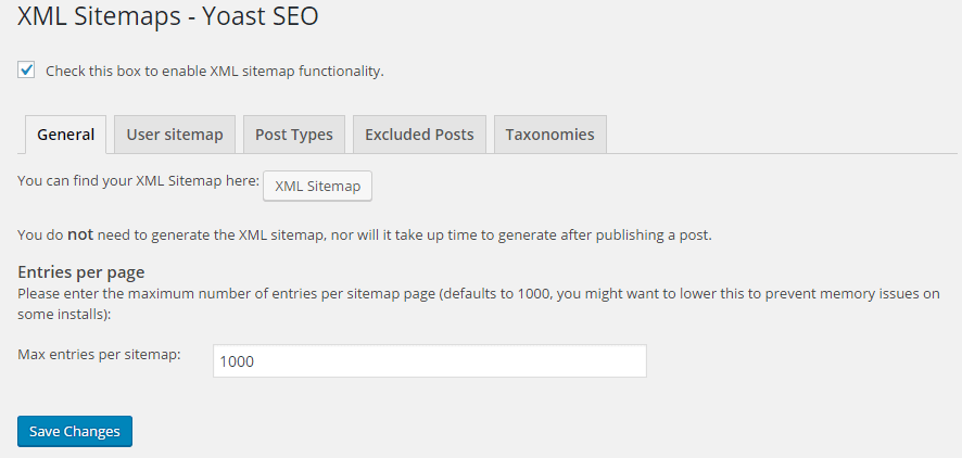 Seo By Yoast-XML Sitemap-General