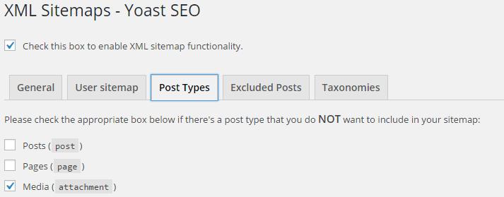 Seo By Yoast-XML Sitemap-Post types