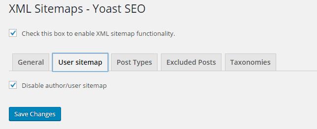 Seo By Yoast-XML Sitemap-User Sitemap