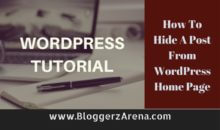How To Hide A Post From WordPress Home Page