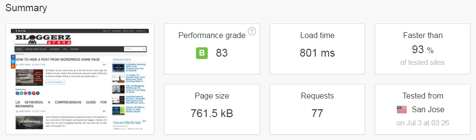 Pingdom Test With CloudFlare And W3 Total Cache