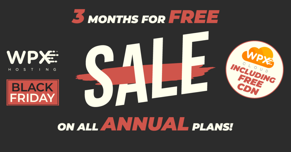 WPX Black Friday Free 3 Months