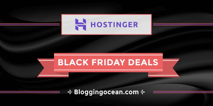 Hostinger Black Friday Deals 2020 Extra 10 Discount